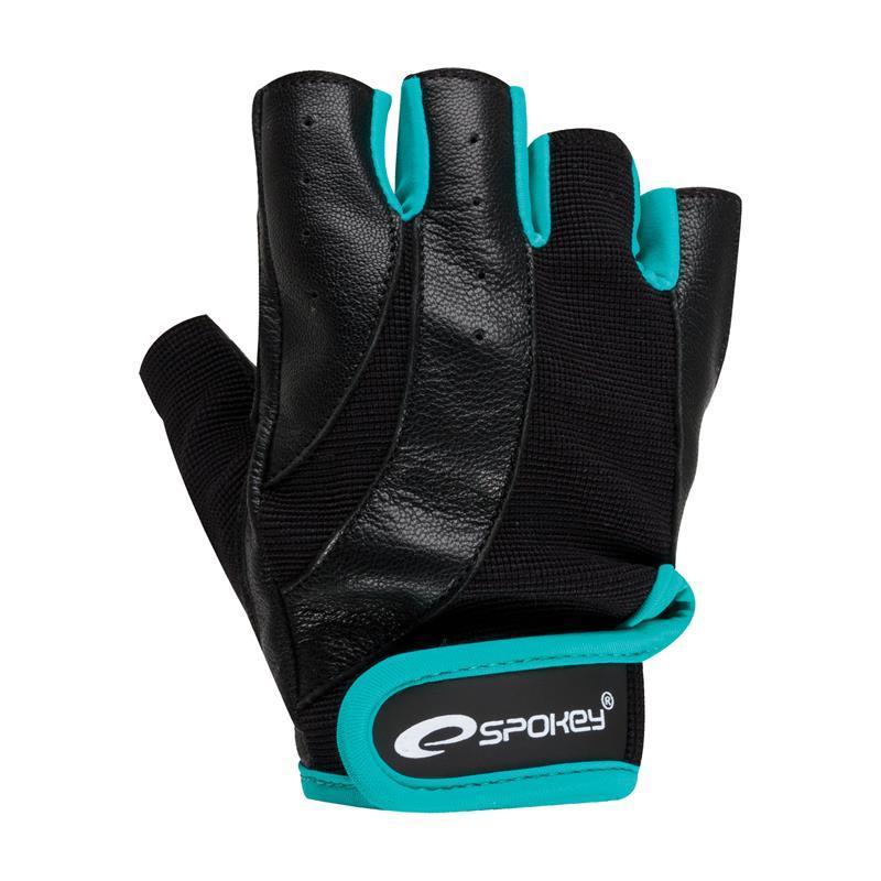 SPOKEY - ZOE Fitness rukavice čierno-zelená veľkosť L