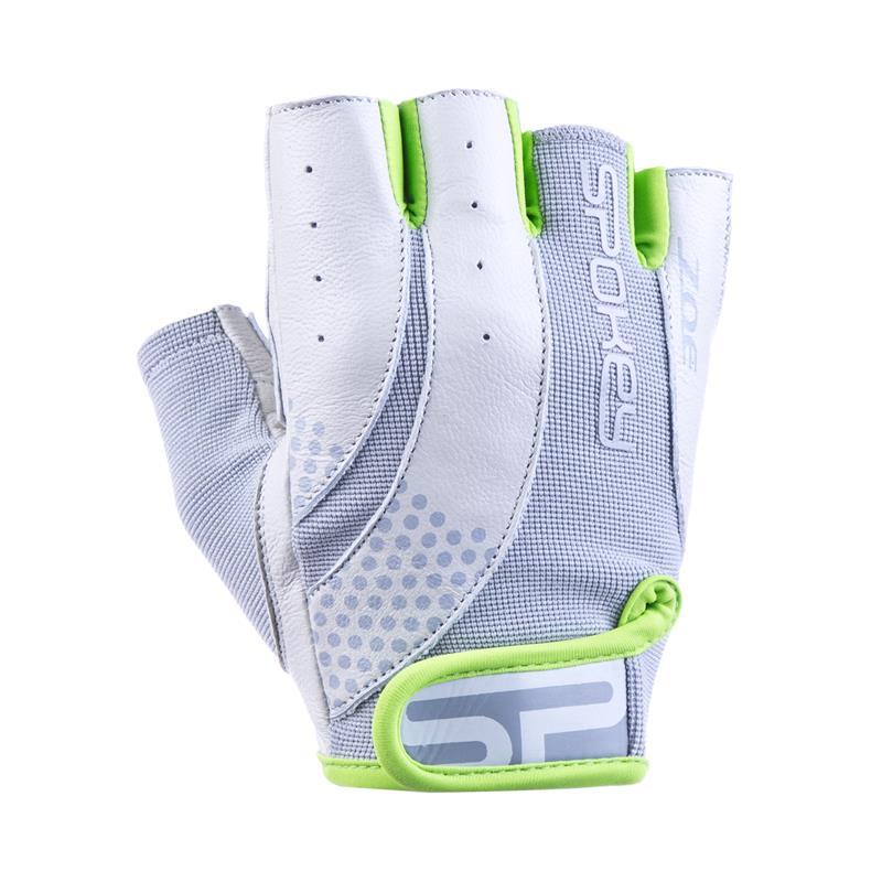SPOKEY - ZOE II Dámské Fitness rukavice bielo-limetkové vel.L