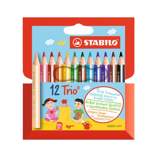 STABILO - Pastelky trojhranné STABILO Trio 12 ks mini