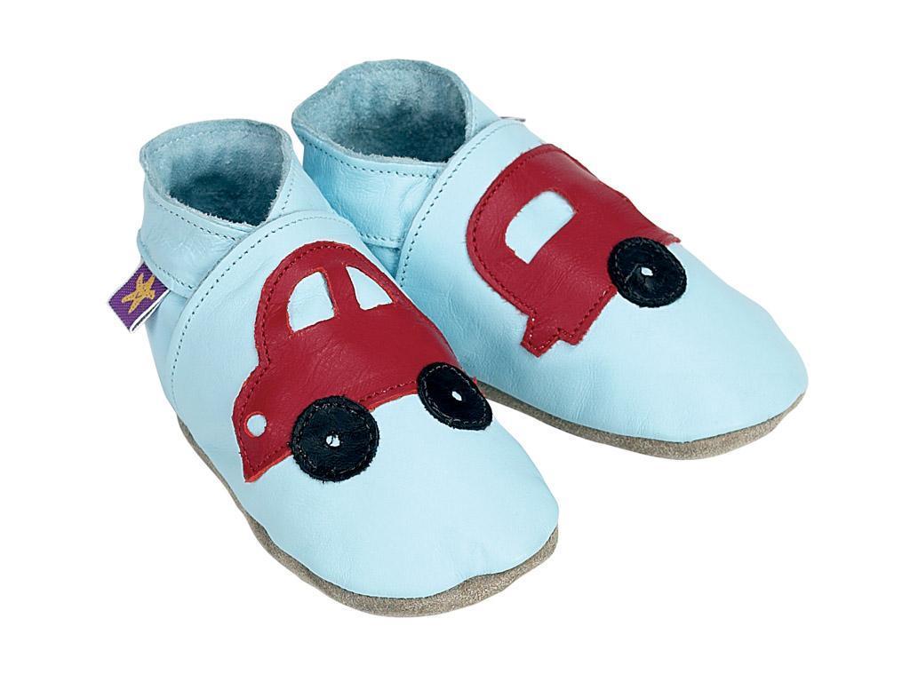 STARCHILD - Kožené topánočky - Holiday Baby Blue - veľkosť M (6-12 mesiacov)
