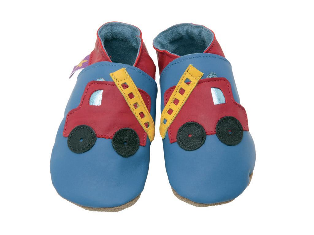 STARCHILD - Kožené topánočky - Fire Engine blue - veľkosť XL (18-24 mesiacov)