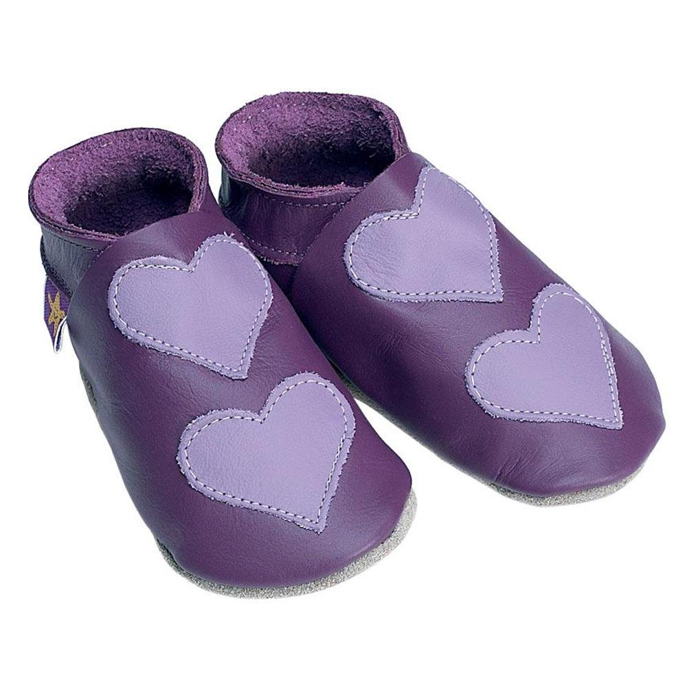 f1193a51185ea STARCHILD - Kožené topánočky - Lovehearts Grape / mauve - veľkosť M (6-12  mesiacov)