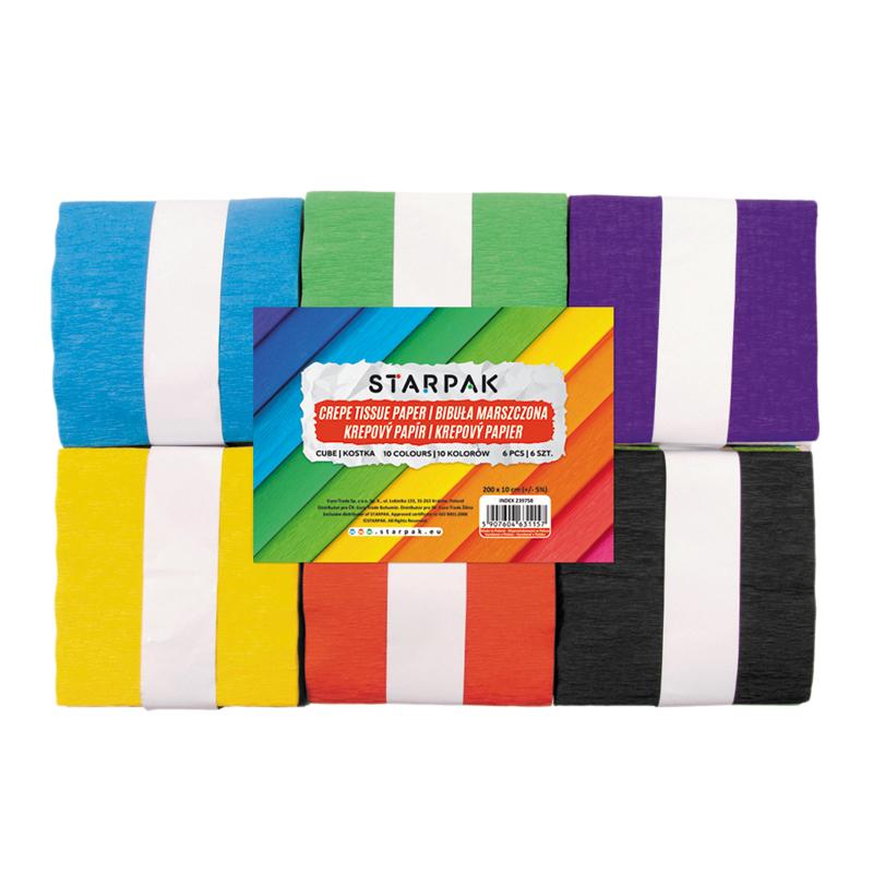 STARPAK - Krepový papier v kocke 10x200cm