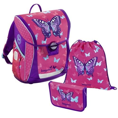 STEP BY STEP - Školská taška - 3-dielny set Baggymax FABBY, Motýľ