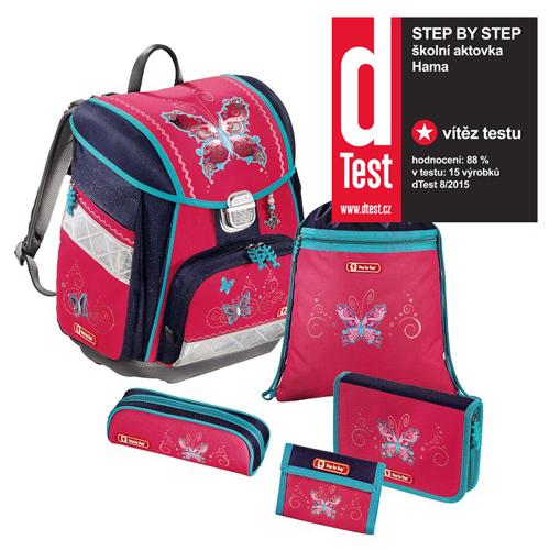 STEP BY STEP - Školská taška - 5-dielny set, Step by Step Touch, Motýľ