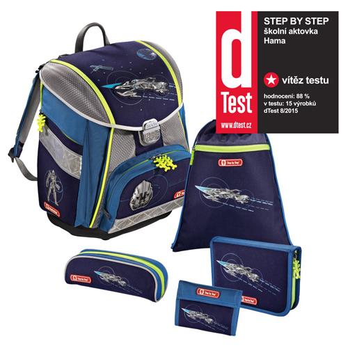 STEP BY STEP - Školská taška - 5-dielny set, Step by Step Touch, Vesmírny pirát