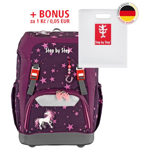 STEP BY STEP - Školská taška Step by Step GRADE, Jednorožec + BONUS Dosky na zošity za 0,05 € + darček