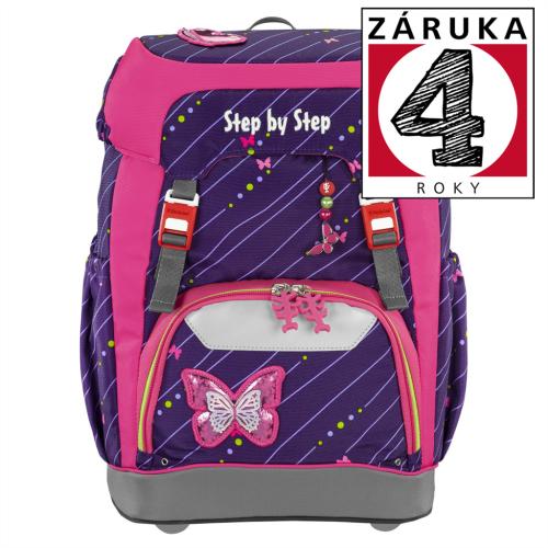 STEP BY STEP - Školský ruksak GRADE Trblietavý motýľ + BONUS Dosky na zošity za 0,05 EUR