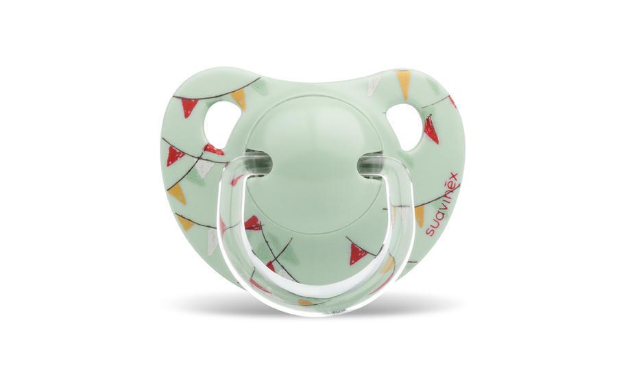 SUAVINEX - Cumlík anatomický silikón 0-6 m - Zelený cirkus