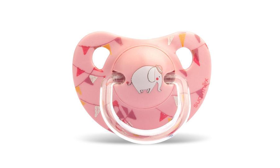 SUAVINEX - Cumlík anatomický silikón +6 m - Ružový cirkus