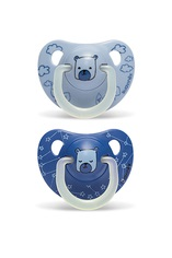SUAVINEX - Cumlík Deň&Noc Latex 6-18M - Modrý Medveď