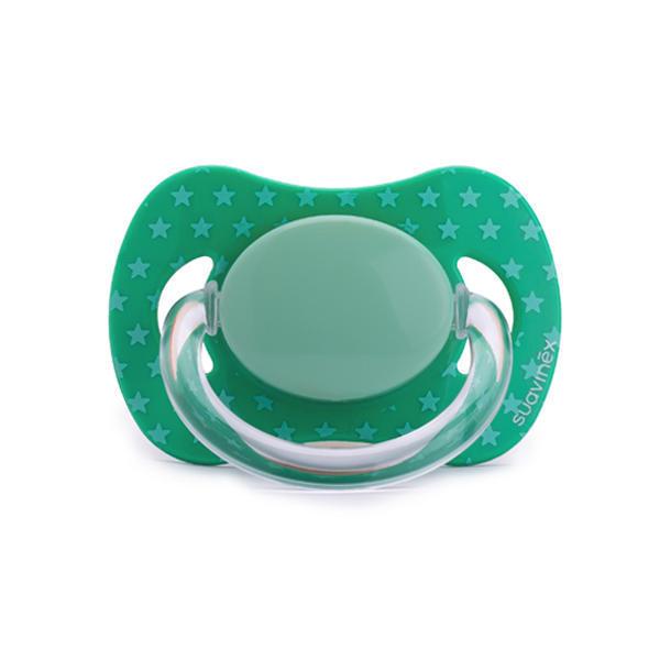 SUAVINEX - Cumlík fyziologický silikón +0m - Zelený