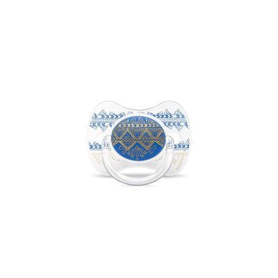 SUAVINEX - CUMLÍK PREMIUM COUTURE fyziologický silikón +18m - Tmavo modrý