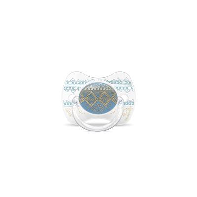 SUAVINEX - CUMLÍK PREMIUM COUTURE fyziologický silikón +4m - Svetlo Modrý