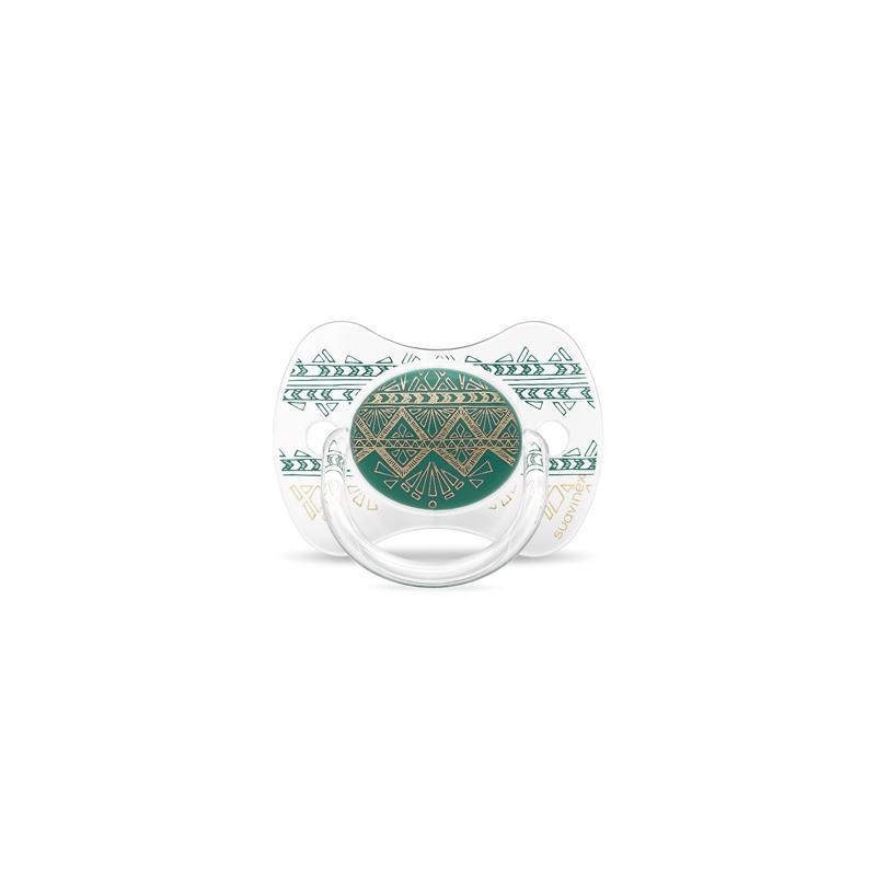 SUAVINEX - CUMLÍK PREMIUM COUTURE fyziologický silikón +4m - Zelený