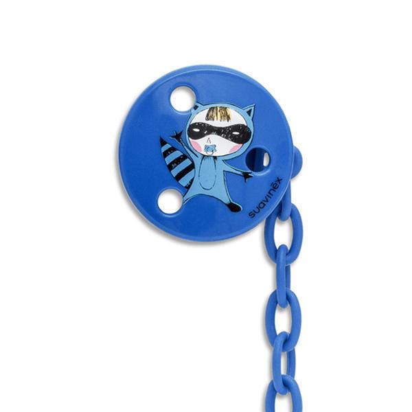 SUAVINEX - Klip na cumlík OKRÚHLY - Modrá mačka