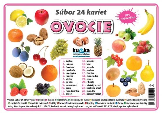 Súbor 24 kariet - ovocie - Petr Kupka