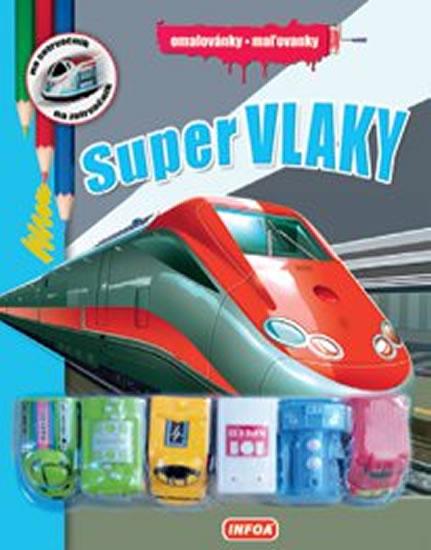 Super vlaky - Omalovánky + 6 hraček