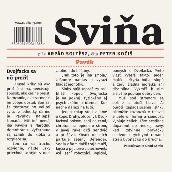 Sviňa - audiokniha - Arpád Soltész