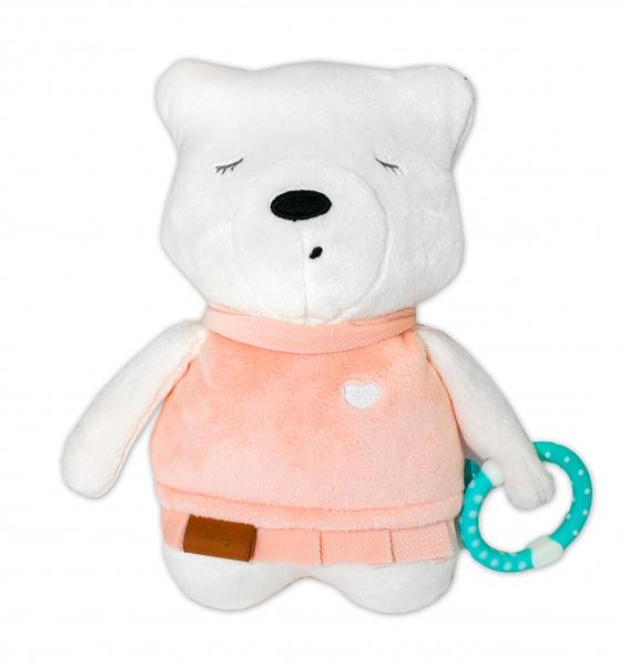 SZUMISIE - Šumiaci maznáčik Medvedík Suzy 25 cm - ružový/bežová