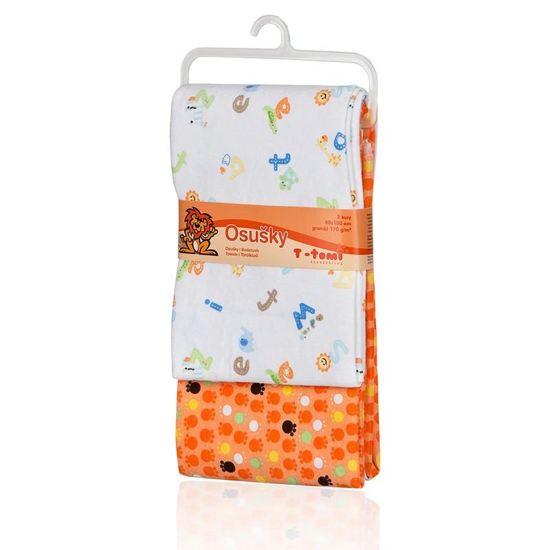 T-TOMI - Látkové osušky, orange