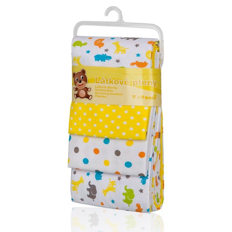 T-TOMI - Látkové plienky, yellow giraffe