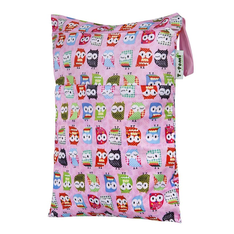 T-TOMI - Nepremokavý sáčok, pink owl