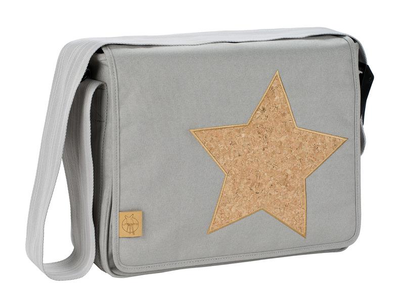 LÄSSIG - Taška na rukoväť Casual Messenger Bag - Cork Star light grey