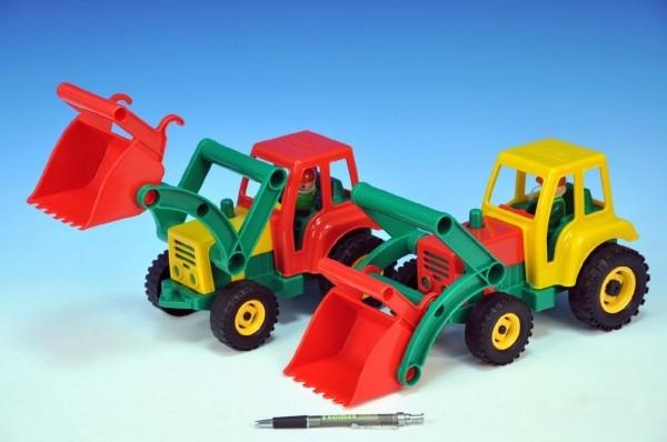 TEDDIES - Auto traktor / nakladač aktívny s lyžicou plast 35cm od 24 mesiacov