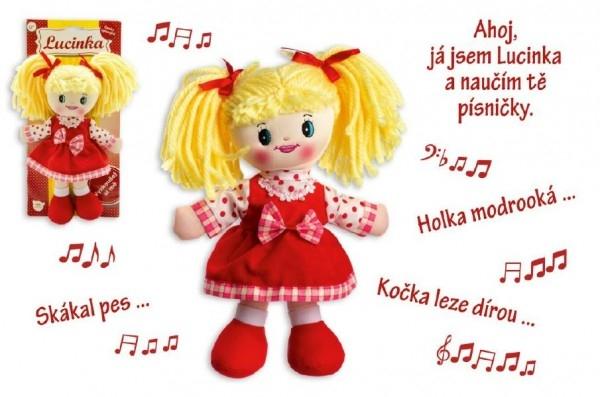 TEDDIES - Bábika Lucinka handrová plyš 30 cm česky spievajúci