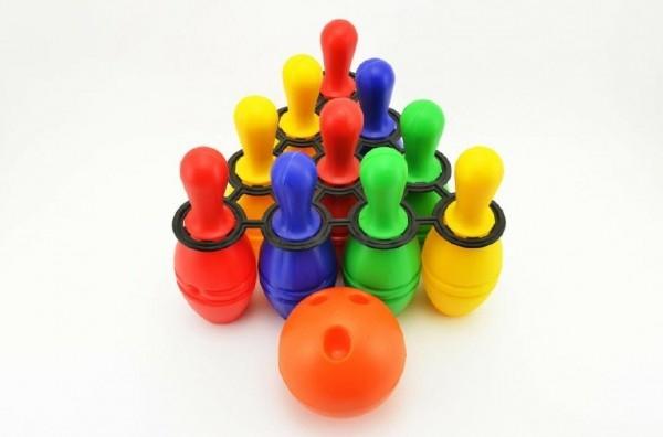 TEDDIES - Bowling kolky plast 21cm 10ks v sieťke