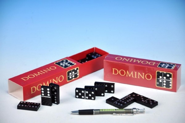 TEDDIES - Domino spoločenská hra drevo 28ks v krabičke 15,5x3,5x5cm