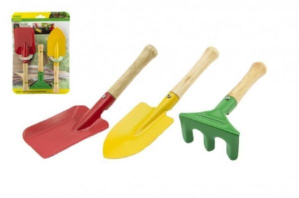 TEDDIES - Náradie záhradnícke pre deti drevo kov 3ks