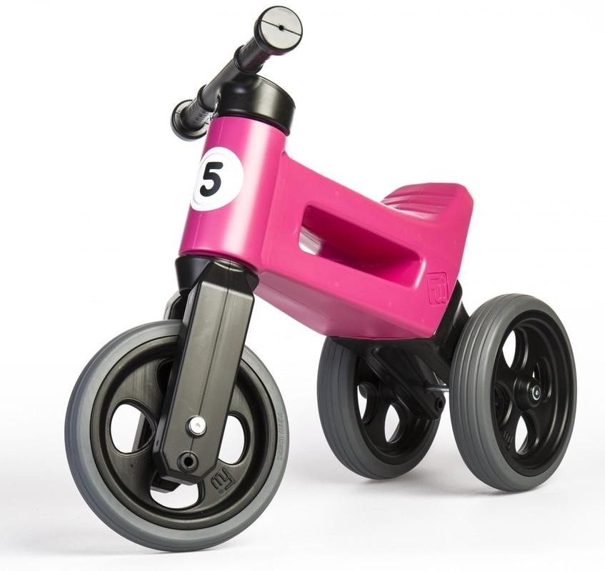 TEDDIES - Odrážadlo ružové Funny wheels 507185