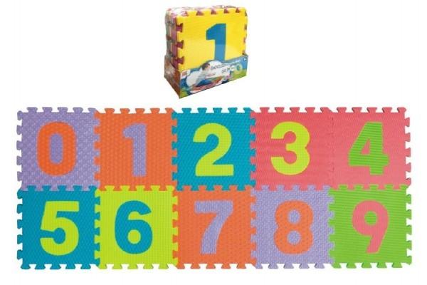 TEDDIES - Penové puzzle čísla 0-9 podložka 25x25x1cm 10ks v sáčku