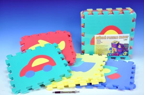 TEDDIES - Penové puzzle Dopravné prostriedky 30x30cm 10ks v sáčku