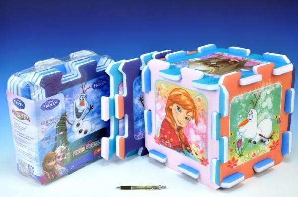 TEDDIES - Penové puzzle Ľadové kráľovstvo/Frozen 32x32x1cm 8ks v sáčku