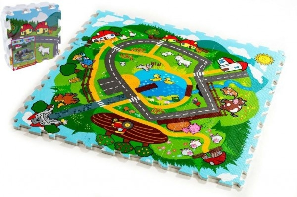 TEDDIES - Penové puzzle Mesto Moje prvé zvieratká 30x30x1,2cm 9ks MPZ