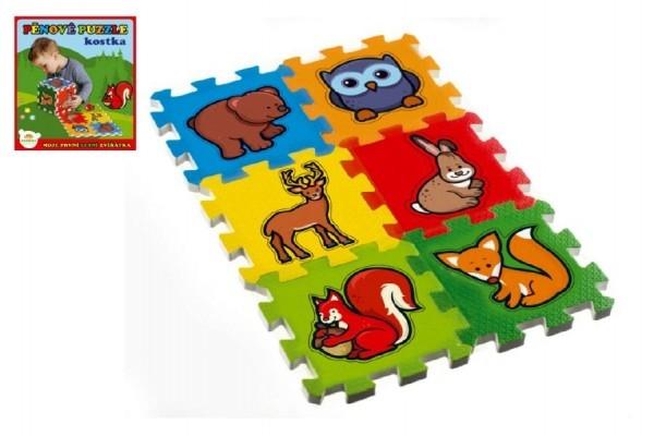 TEDDIES - Penové puzzle Moja prvá lesné zvieratká 15x15x1,2cm 6ks MPZ