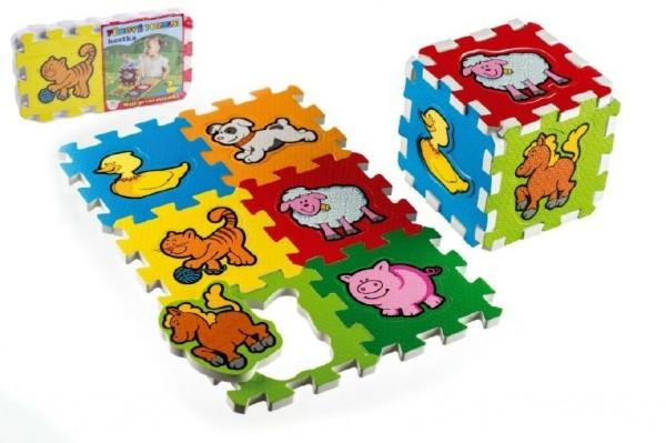 TEDDIES - Penové puzzle Moje prvé zvieratká 15x15x1,2cm 6ks MPZ