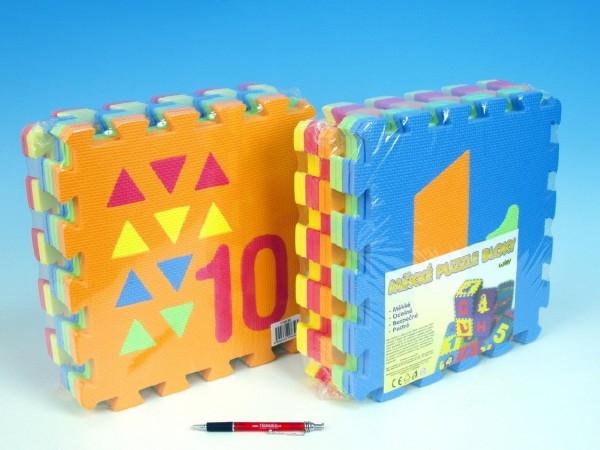 TEDDIES - Penové puzzle Počítání/Tvary 30x30cm 10ks v sáčku
