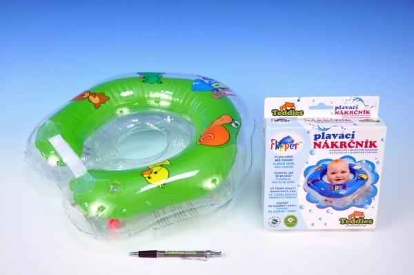 TEDDIES - Plávací nákrčník Flipper / Kruh zelený v krabici od 0 mesiacov