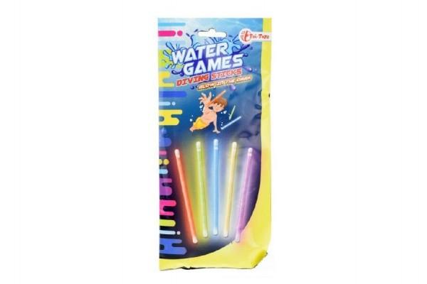 TEDDIES - Tyčinky svietiace do vody plast 15cm v sáčku