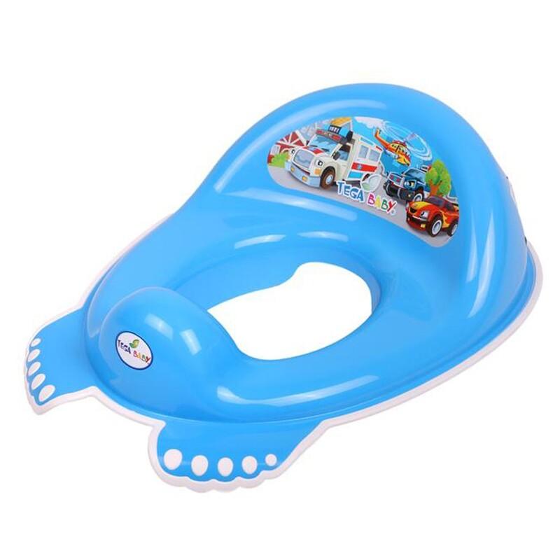 TEGA - Detské protišmykové sedátko na WC Autíčka modré