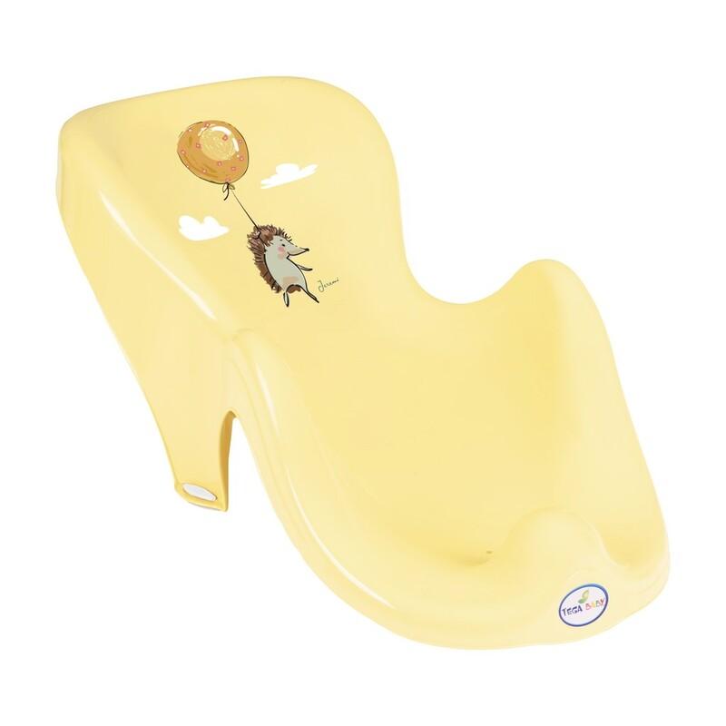 TEGA - Lehátko na kúpanie ježko žlté