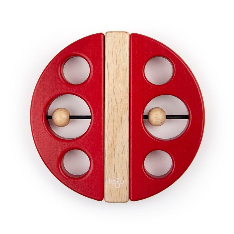 TEGU - Magnetická hračka Chrobák červená