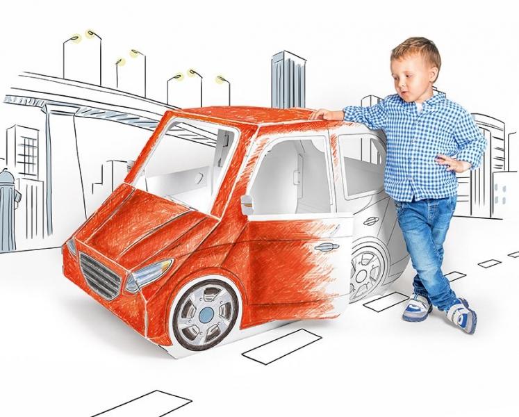 TEKTORADO - Detské kartónové auto Tektorado