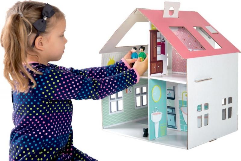 TEKTORADO - Detský kartónový domček Tektorado pre bábiky