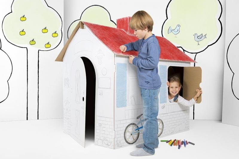 TEKTORADO - Detský kartónový domček Tektorado veľký