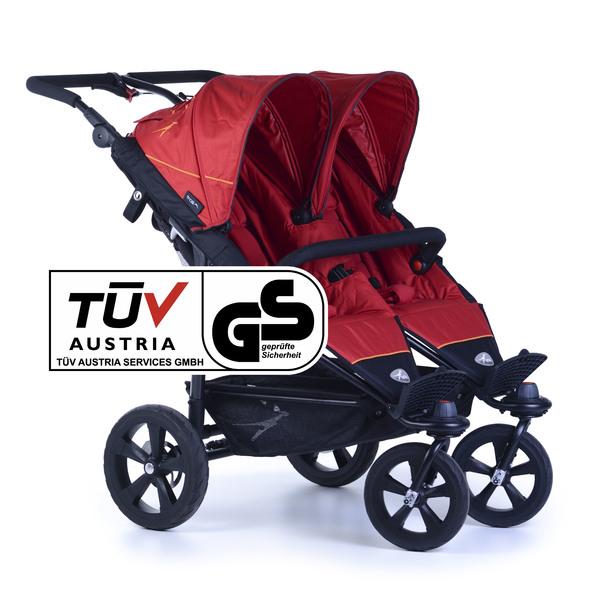 TFK - Kočík pre dvojčatá Twin Trail Tango Red T-TWT-345